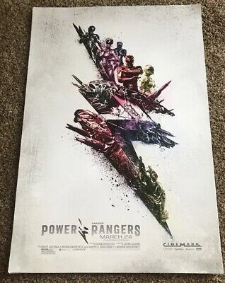 POWER RANGERS Movie Promo Poster 2017 Original Art Print Saban Cinemark Film