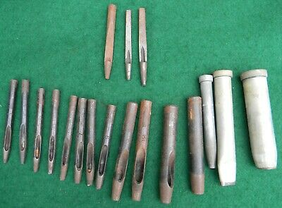 Vintage Lot Rampart W.M. Johnson  Leather Tools Leather Hole Punches