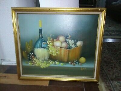 Ventage beautiful authentic oil on canvas paintings signed B Mont