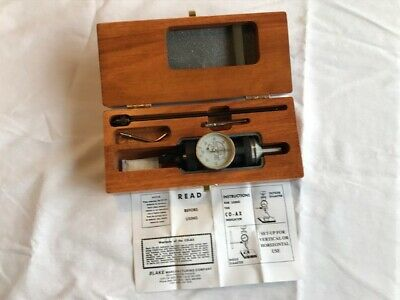 Blake  Co-Ax Indicator w/ Wood Box and Accessories  !