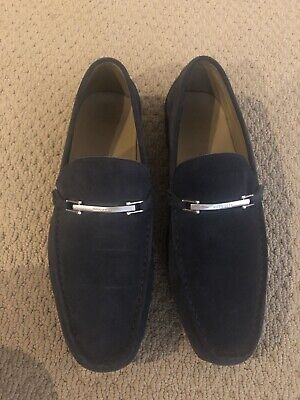 7d5925b32bb64 HUGO BOSS SUEDE Driving Loafers Real Leather Shoes, Mens, Good ...