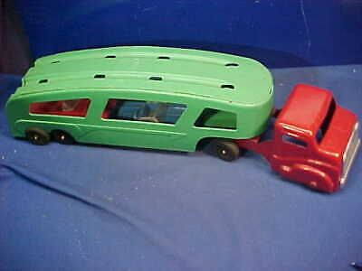 1950s STRUCTO Pressed Steel AUTO TRANSPORT Toy TRUCK