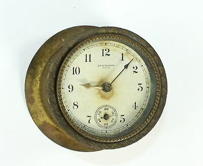 NEW HAVEN WIND UP NOVELTY CLOCK MOVEMENT w/DIAL, BEZEL, GLASS, and BACK - DH864