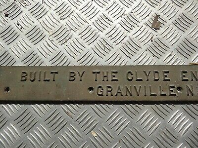Rare 1935 Clyde Engineering Granville N.s.w Brass Locomotive Train Plate Sign