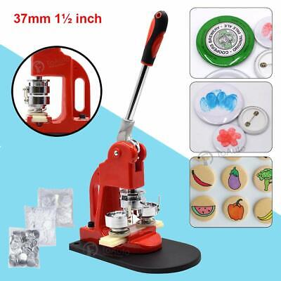 Button Maker Machine Badge Making Pins Punch Press Aluminum Frame+ Circle Cutter
