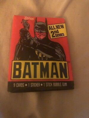 Lot of 2 1989 Topps Batman Movie Wax Pack Sealed Unopened 1st  2nd Series