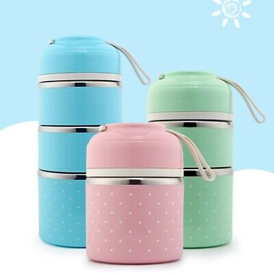 Multi-layer Portable Food Box Insulation Lunch Box School Picnic Food Warmer AU