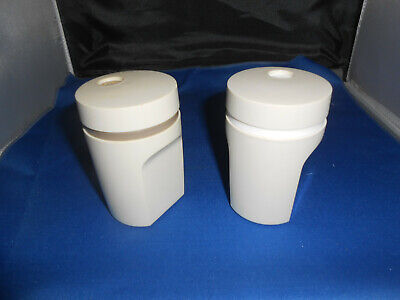 Tupperware Almond Salt and Pepper Shaker Set #1471 Turn to Open & Close-GUC!