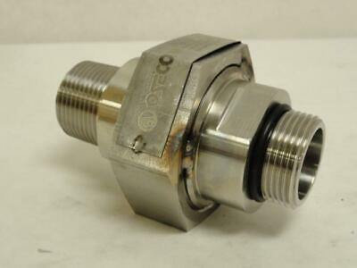 """171971 New-No Box, Oseco Z-0221-02 1"""" Threaded Rupture Disc Holder, W/Disk, SS"""