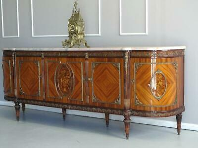 Antique  French Louis XVI Sideboard TV Stand Buffet Marble top