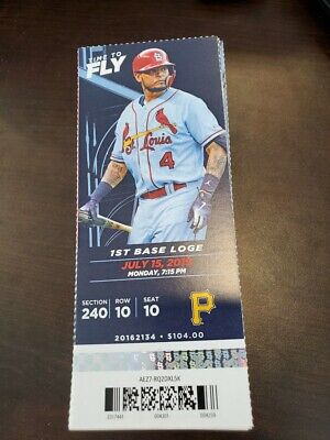 St Louis Cardinals Pittsburgh Pirates MINT Season Ticket 7/15/19 2019 MLB Stub