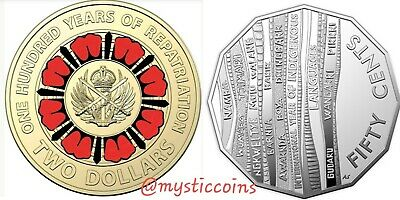 2019 RAM $2 repatriation and 50 CentCoin - Year of Indigenous Languages coin.UNC
