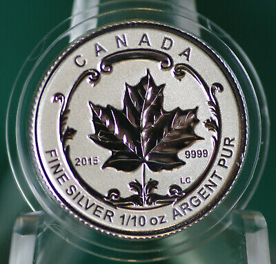 2015 CANADA $2 Incuse Silver Maple Leaf 1/10 oz Rev proof from Fractional set