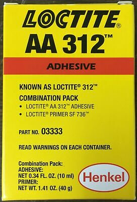 Loctite AA312 Combination Pack Includes Primer and Adhesive