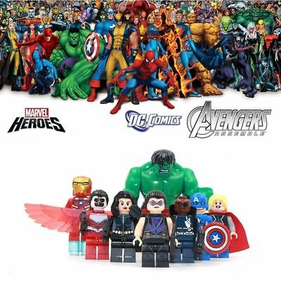 DC Minifigures Justice League Marvel Avengers Thor Venom Spider Man Blocks Lego