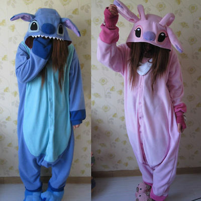 New Adult Kigurumi Pigiama Pigiama Onesie Blue Stitch Angelo Lilo Cosplay