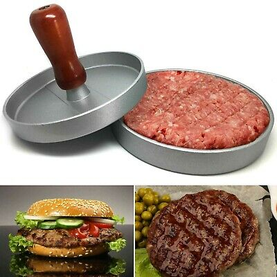 Non Stick Burger Meat Beef Grill Patty Maker Mould Hamburger Press Kitchen BBQ