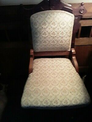 VICTORIAN PAIR CHAIR AND SETTEE ANTIQUE Carved WALNUT PARLOR  CHAIRS SET