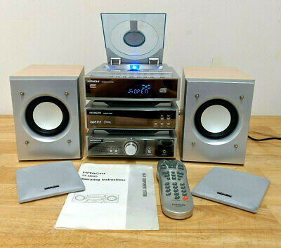 Hitachi AX-M68D Hi-Fi Component System CD Player DAB Tuner Amplifier + 2 AUX IN