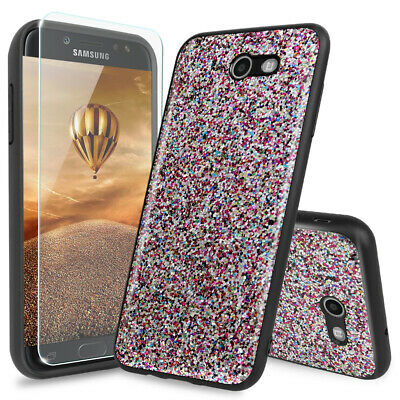 For Galaxy J7 Prime/Sky Pro/Perx/V 2017/Halo Magnetic Suport Case+Tempered Glass