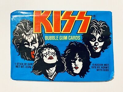 Vintage 1978 Kiss Aucoin Sealed Card Cards Wax Pack...