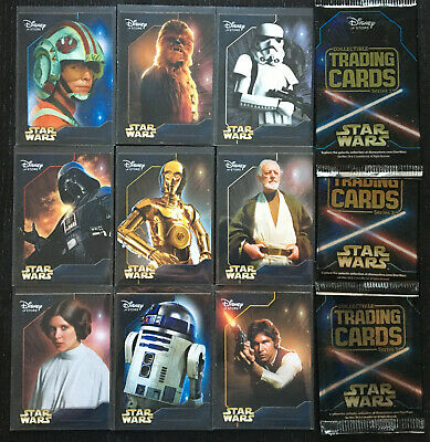 2014 Disney Store Exclusive Star Wars Series 1-2-3 Trading Cards 1-9 + Wrapper