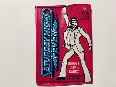 Vintage 1977 Saturday Night Fever Trading Card Sealed Wax Pack