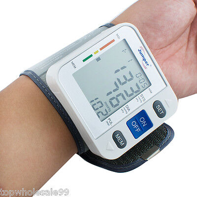 new Digital LCD Display Automatic Wrist Blood Pressure Pulse Monitor Accurate