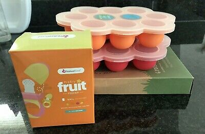 WeeSprout Reusable Food Pouches And Baby Food Freezer Trays And Fruit Feeder