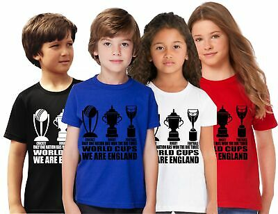 Girls T Shirt England Fan The Only 3 World Cup Winners Football Rugby Cricket