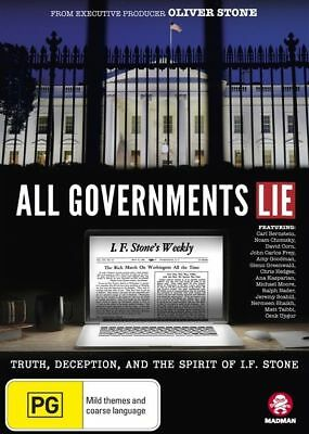 All Governments Lie - Brand New Sealed Dvd - Oliver Stone Documentary