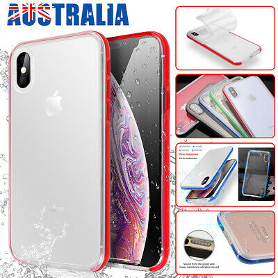 Waterproof Shockproof Dirtproof Clear TPU Full Cover Case for XR iPhone XS Max X
