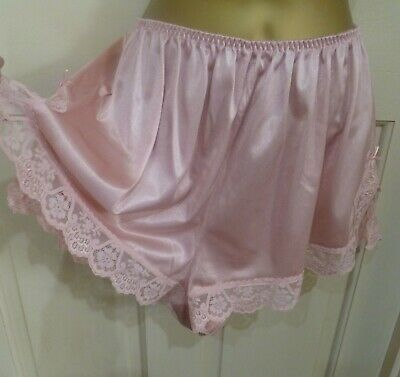 Vintage 80S St Michael Gorgeous Pink Silky Nylon French Cami Knickers Size 18-20