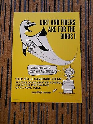 Mondo Snoopy Peanuts Apollo Era Safety Poster Dirt & Fibers 2019 Sdcc Exclusive