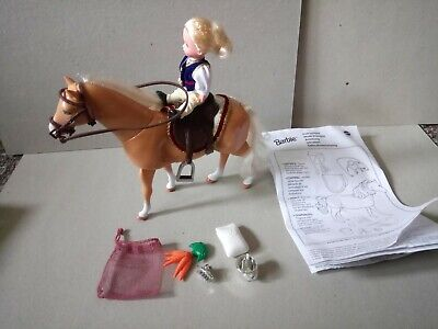 Mattel Barbie Shelly And Pony c1998. Walking pony and Accessories.