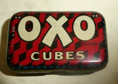 RARE Antique early 1900's 6 cube OXO tin with it's original cube pattern design