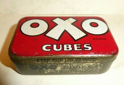 RARE Vintage early 1900's 6 cube OXO tin