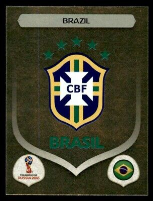 Panini World Cup 2018 (SWISS GOLD VERSION) Badge (Brazil) No. 352