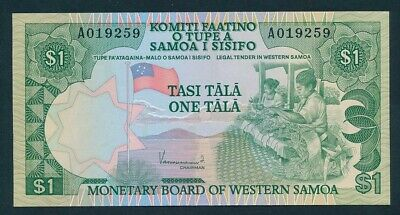 "Western Samoa: 1980 1 Tala ""SCARCE MONETARY BOARD ISSUE"". P19 UNC Light handling"