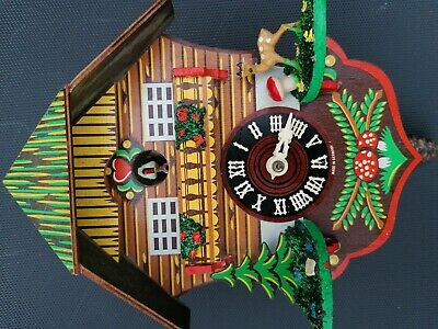 Vintage Wooden Helmut Kammerer Cuckoo Clock in need of repair