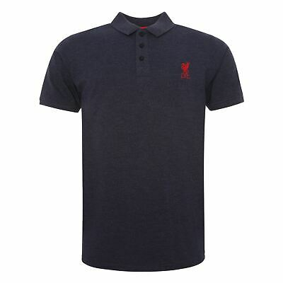 Liverpool FC Navy Short Sleeve Mens Football Polo T-Shirt AW19 LFC Official