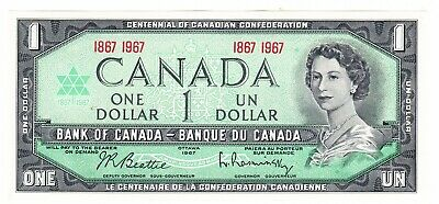 1967 Canada Centennial Commemorative One Dollar Uncirculated Banknote