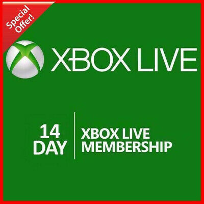 14 Days Xbox Live Gold Membership Code - Xbox 360 One Subscription Key