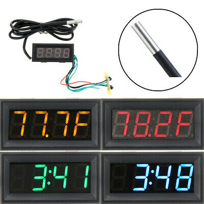 0.56 Inch 200V 3-in-1 Time + Temperature + Voltage Fahrenheit Display