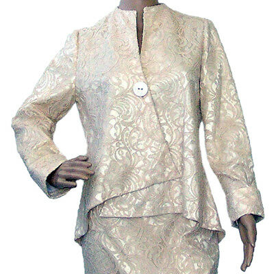 Joseph Ribkoff 151557 Women Champagne and Beige Lace Jacket Size 10 US NWT