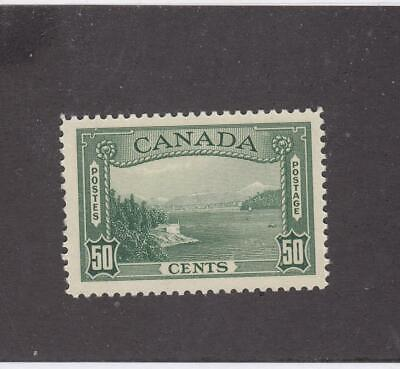CANADA (MK3743) # 244  VF-MNH  50cts VANCOUVER HARBOUR /1938 CAT VALUE $90