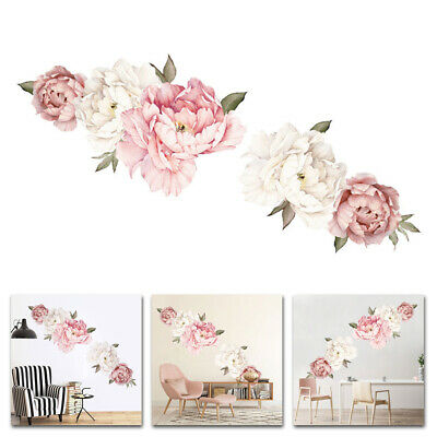 1pcs Wall Sticker Peony Floral Flowers Design Series Stickers PVC Wrap Decals