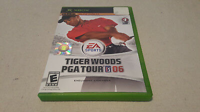 Tiger Woods PGA Tour 06 (Microsoft Xbox, 2005) COMPLETE