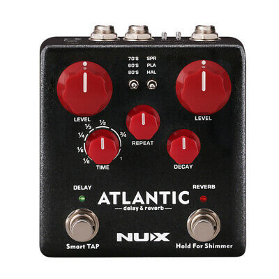 1pc NUX ATLANTIC Delay & Reverb Guitar Effect Pedal Dual Footswitch