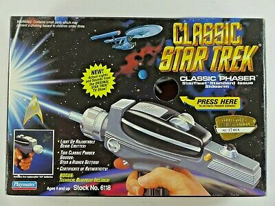 Playmates 1994 Collector's Edition Star Trek Classic Phaser No. 6118 Auc2